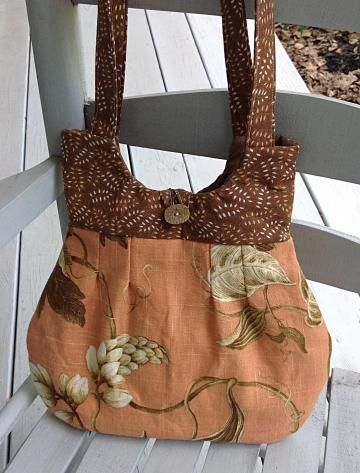 #HandmadePurse or handbag, orange purse, floral purse, tote by #OnceUponARoll for $39.00