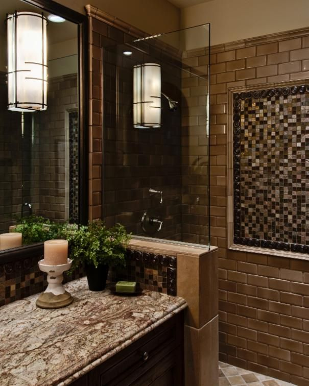 photo of brown new traditional bathroom project in saratoga ca by alison whittaker design inc mediterranean homesbacksplash ideaskitchen
