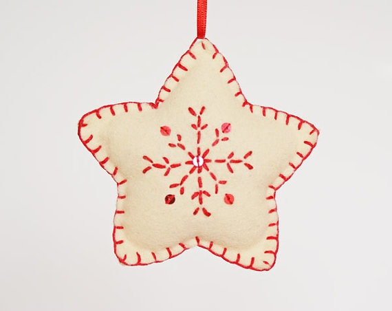 star felt ornament