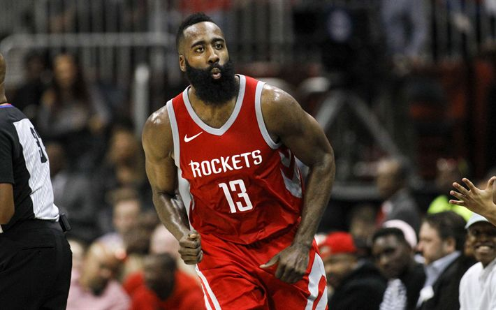 Download wallpapers James Harden, 4k, NBA, basketball