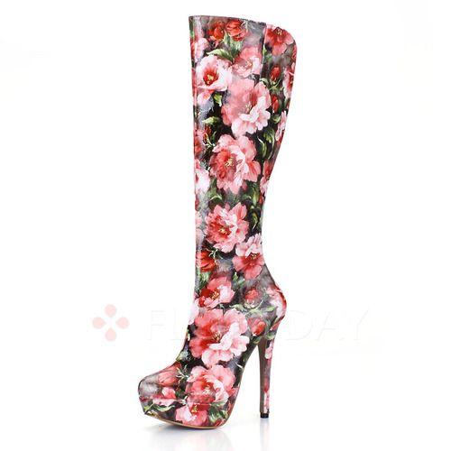 Zapatos - $88.62 - Zapatos Botas Botas longitud media Tacón stilettos Cuero (1625107689)
