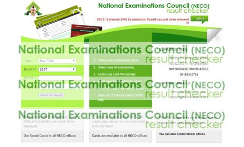 2017 NECO Result - How To Check 2017 NECO Result Online - TecNg