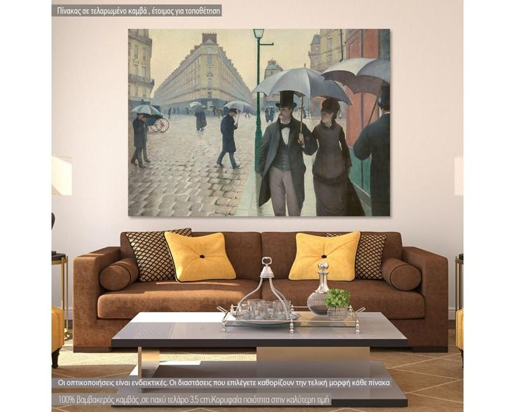 Paris street a rainy day by G. Caillebotte, αντίγραφο - αναπαραγωγή πίνακα σε καμβά,19,90 €,https://www.stickit.gr/index.php?id_product=20967&controller=product, Δείτε το !