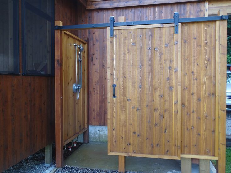 The Outdoor Shower With Sliding Door