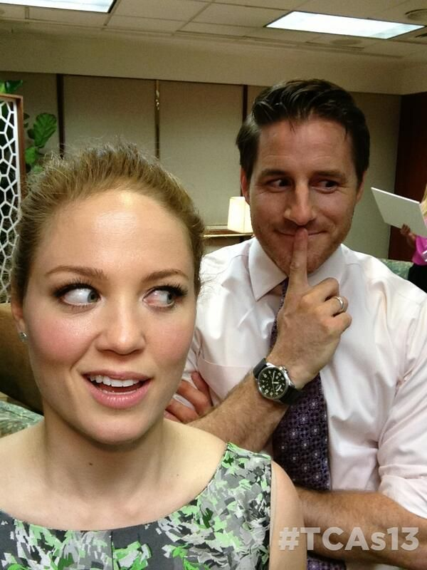 #Parenthood's Erika Christensen and Sam Jaeger at the TCAs!