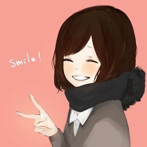 Картинки по запросу аниме девушка с короткими и шарфом