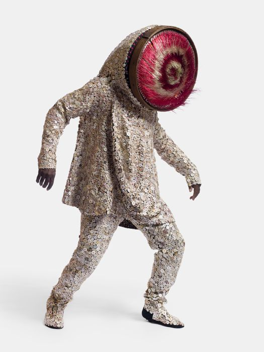 "Artist Nick Cave turns sundry materials, such as cast-off clothing, flea market discoveries, and dyed human hair, into transformative ""soundsuits"" that double as sumptuous sculptures."