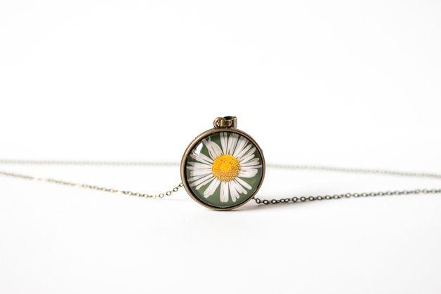 Naszyjnik ze stokrotką - Daisy Decklace - Art-Of-Nature