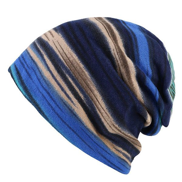 Women Cotton Colorful Stripe Beanie Hat Casual Outdoor Windproof Cap Collar Scarf at Banggood  #women #men #fashion #accessories
