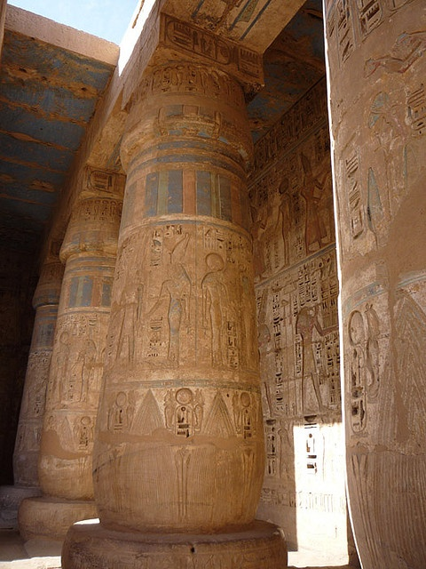 LUXOR (THEBES), EGYPT - Temple of Medinet Habu - 2nd Court/ ЛУКСОР, ЕГИПЕТ - Храм Мединет-Хабу - 2-ой дворик by Miami Love 1, via Flickr