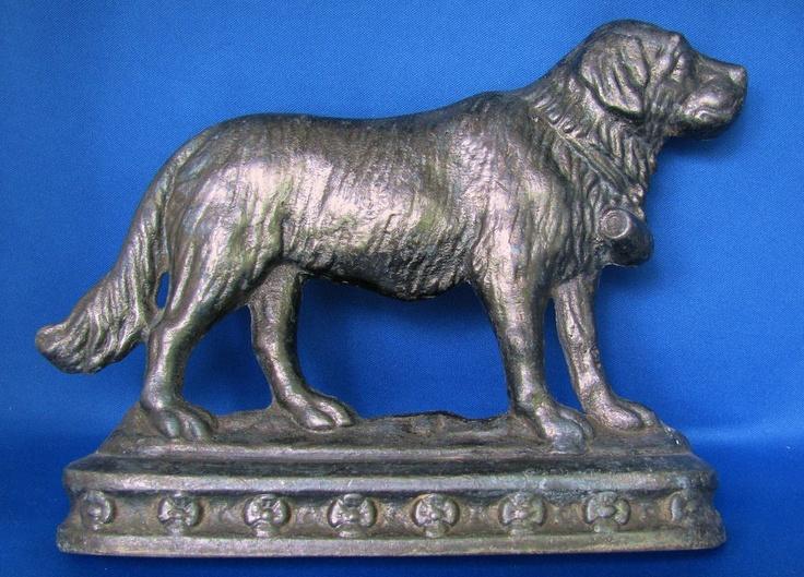 Antique cast iron Saint Bernard dog doorstop,Victorian - 117 Best Cast Iron Beauty Images On Pinterest Cast Iron