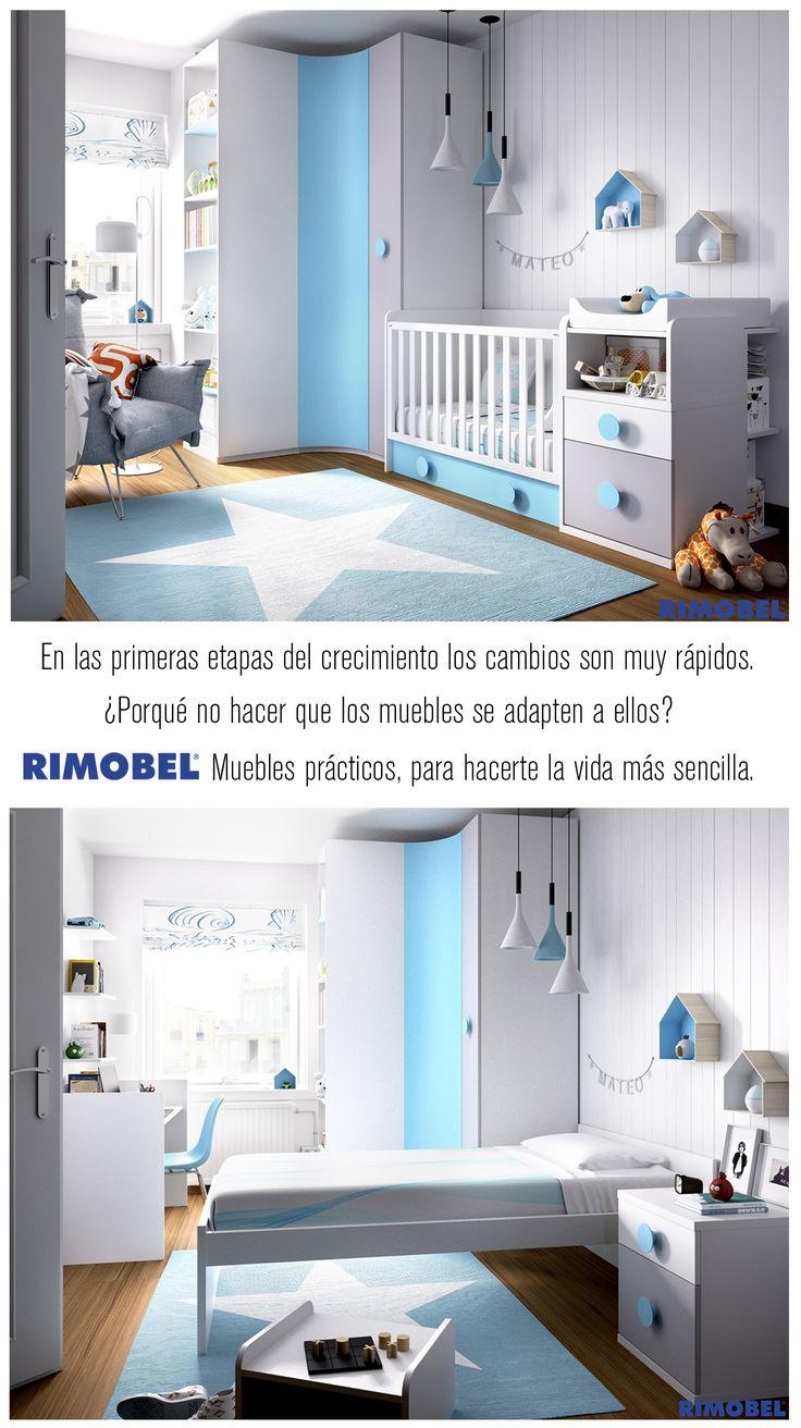 Cunas Convertibles RIMOBEL. Muebles que crecen con tus hij@s. https://es.pinterest.com/Rimobel/cunas/