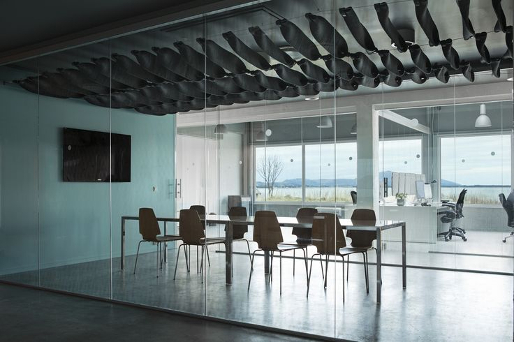 The all New FeltCeiling from Rom & Tonik. A modular modern and open acoustically superb solution from 100% wool.
