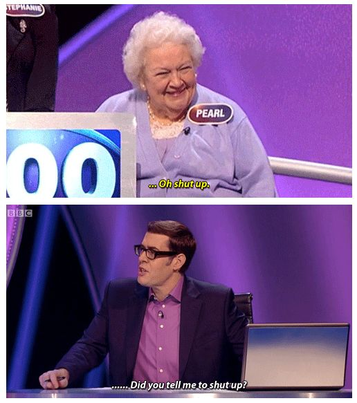"When Pearl tried to clapback at Richard and he wasn't having any of it. | 33 Times ""Pointless"" Was The Most Wholesomely Funny Show On TV"