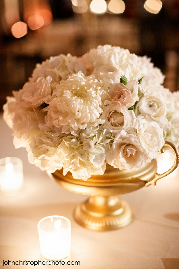 Ivory blush gold centerpiece siginificanteventsoftexas for Rose centerpieces for wedding tables