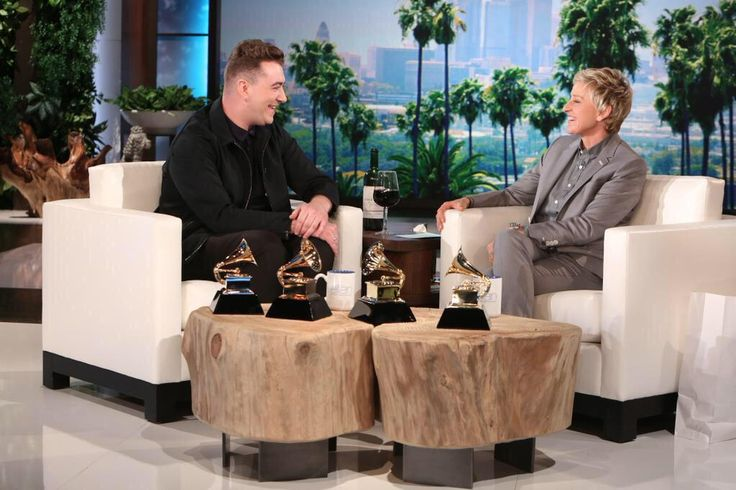 Fresh from his huge GRAMMY Win, Sam stopped by Ellen DeGeneres' Show to chat about his huge night! Watch the clip below!