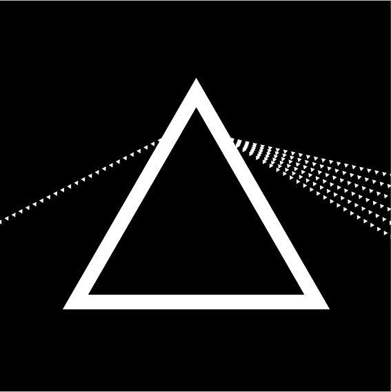 365 triangoli - 1forday #triangle #365 triangoli #geometric #graphic #bw #pinkfloyd #pyramid