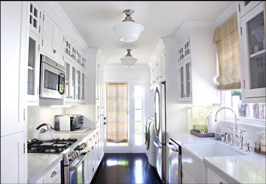 9 best galley kitchen lighting images on pinterest kitchens rh pinterest com galley kitchen lighting small galley kitchen lighting