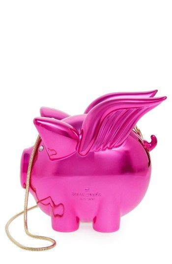 Free shipping and returns on kate spade new york when pigs fly frame clutch at Nordstrom.com. This gleaming winged-pig frame clutch will cease to be a showstopping conversation starter when . . . well, you know. A delicate, drop-in snake-chain strap provides hands-free convenience.
