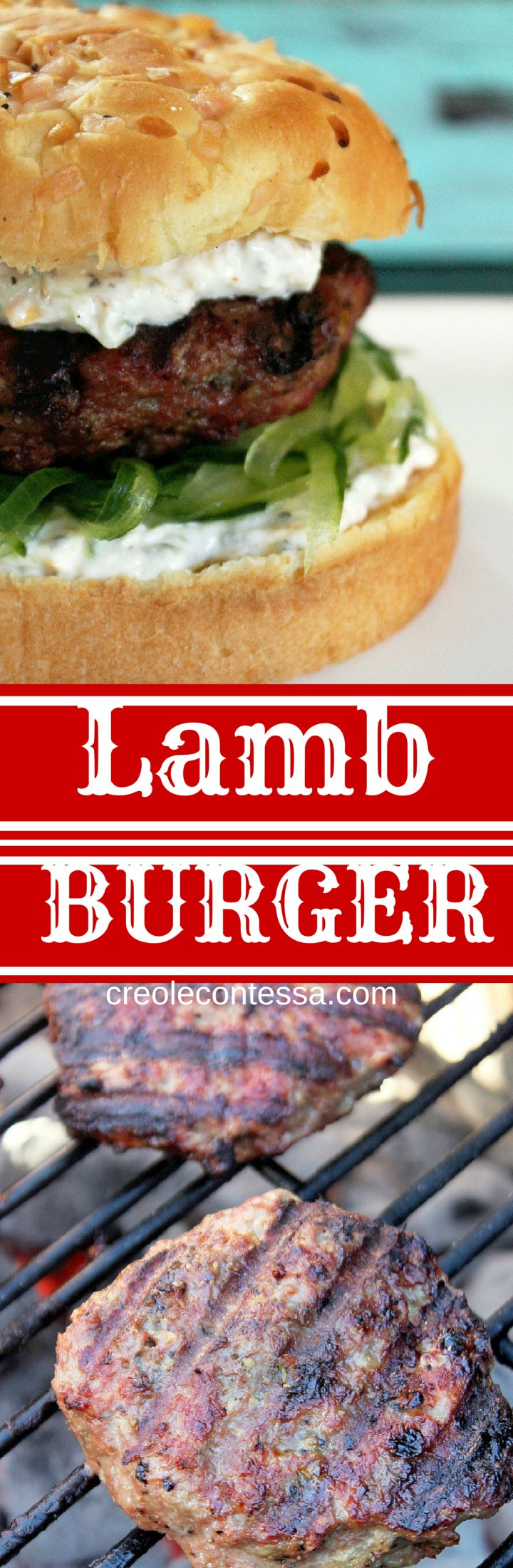 Grilled Lamb Burgers -Creole Contessa #KingsfordFlavor #Ad #cbias