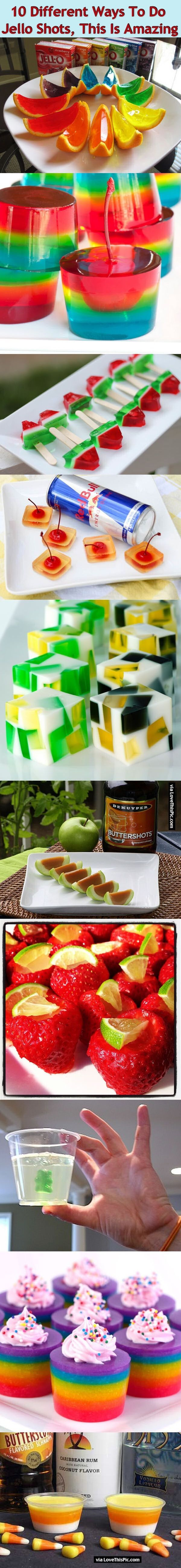 10 Different Ways To Do Jello Shots This Is Amazing party alcohol food jello…