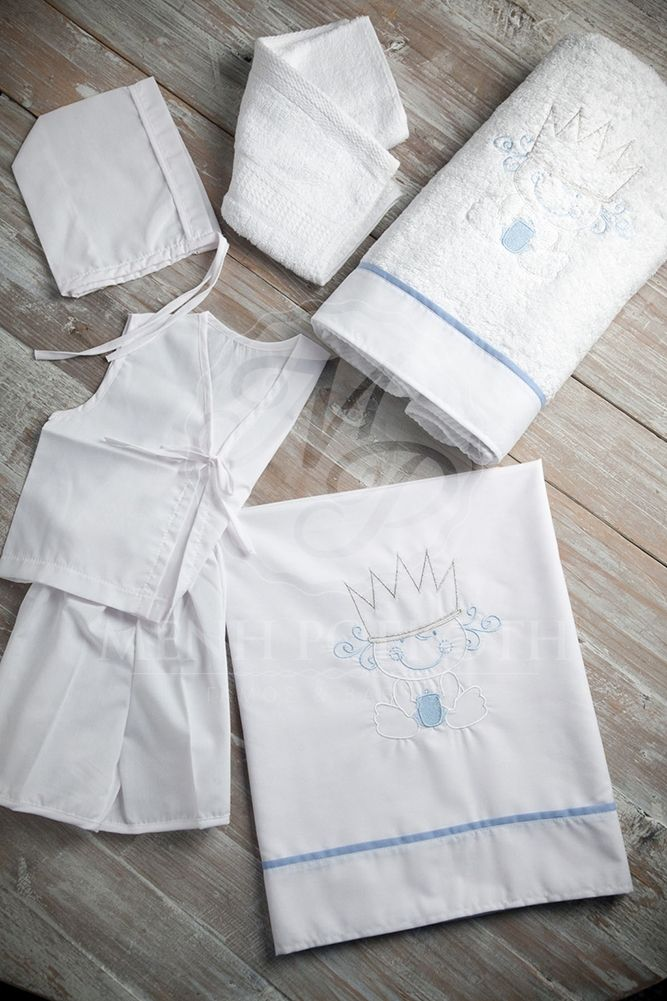 Embroidered Christening lathopana baby prince