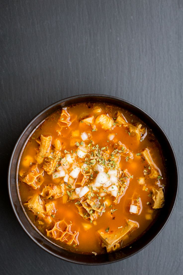 Alright, people. You must have known this recipe was coming sooner or later. For the past year or so I have been playing around with nourishing soups (recent examples are here and here), so I thoug…