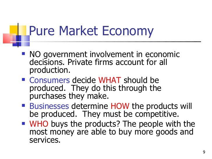 Pure Market Economy No Government Involvement In Economic