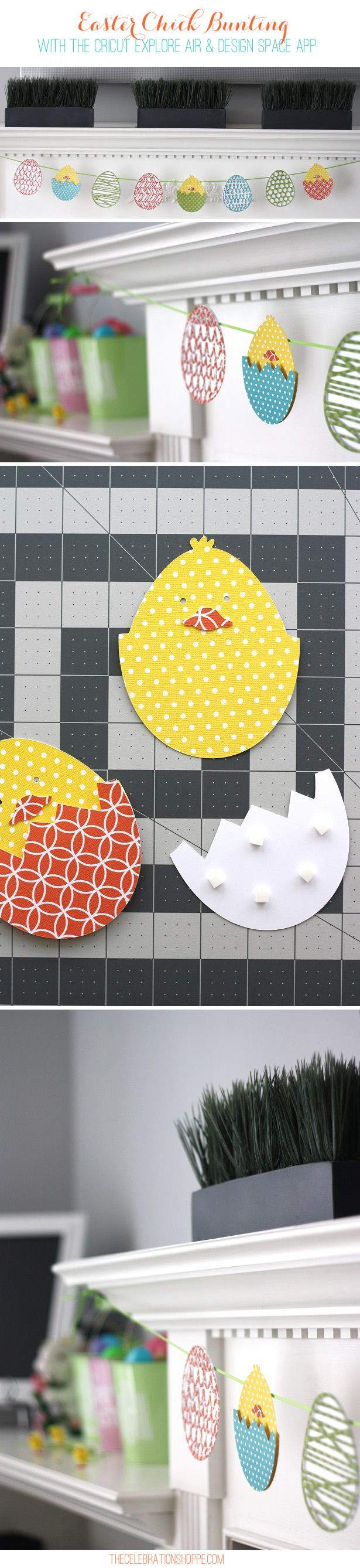 Easter Chick Bunting & Capturing Design Inspiration In The Moment with @Cricut Design Space App