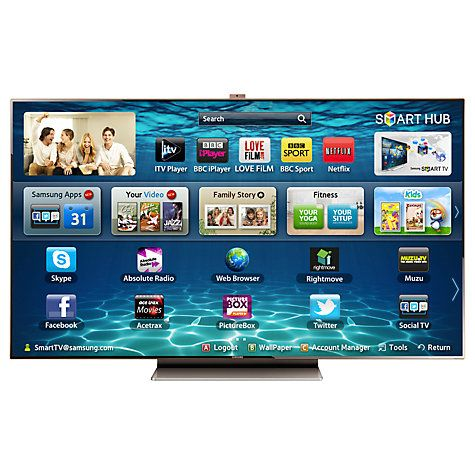 """Buy Samsung UE75ES9000 LED HD 1080p 3D Smart TV, 75"""" with Freeview/Freesat HD and Voice/Motion Control Online at johnlewis.com"""
