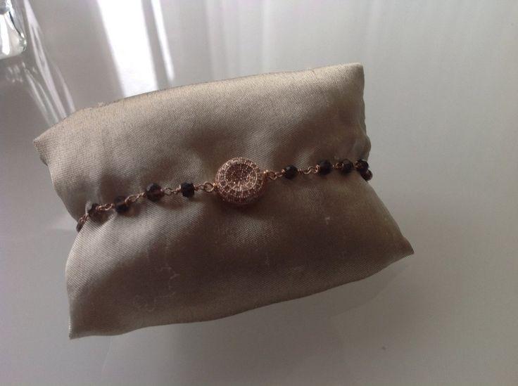 Bracciale in argento rosato e zirconi, by GIOBijoux, 25,00 € su misshobby.com