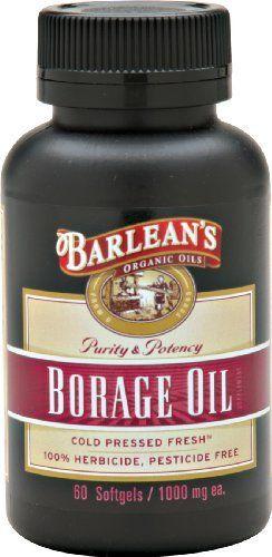Barleans Organic Oils Borage Oil, 1000 mg. 60 Count, Bottle by Barleans Organic Oils. $21.39     Visit my site  http://youtu.be/vXCPDEkO9g4     #supplements #vitamins #organic #health #naturalvitamins #naturalsupplements #organicsupplements