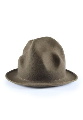 Mountain Hat Camel, Black, Navy, Green, Bordeaux, Red, Fuchsia Felt and Woven Straw #MAN