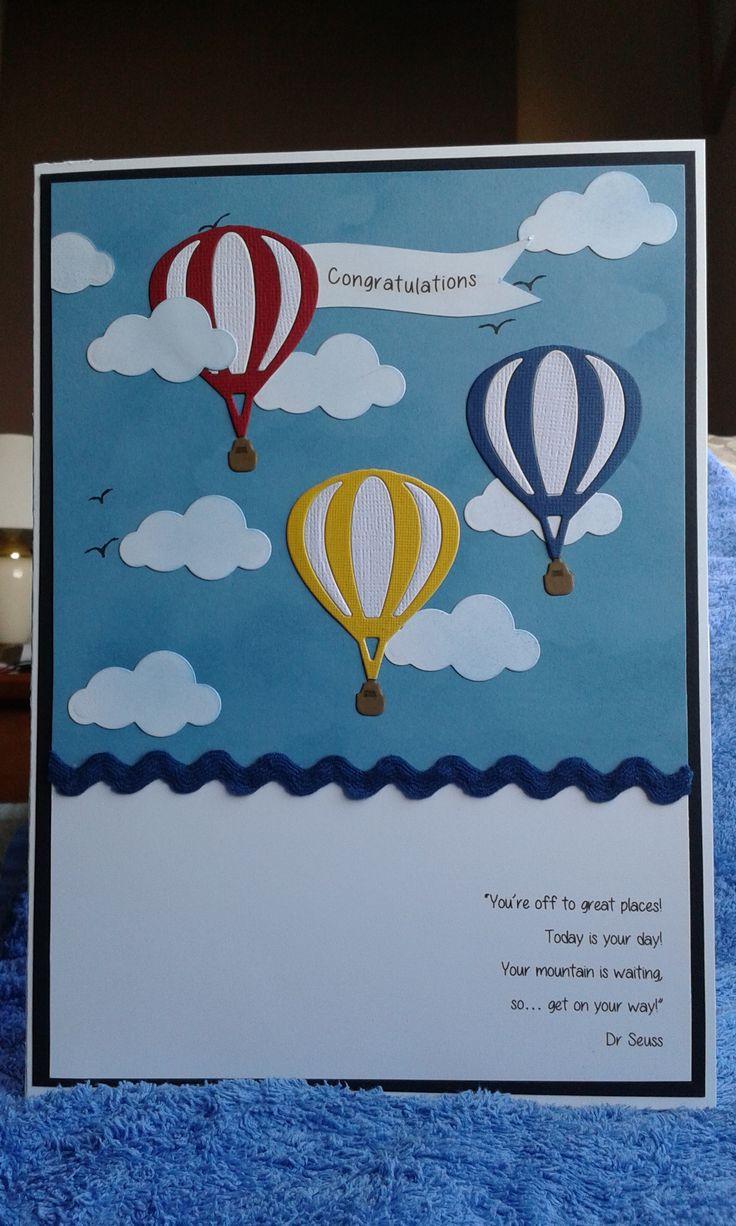 best ideas about new job card leaving cards handmade card congratulations on the new job leaving card hot air balloons made using kaisercraft