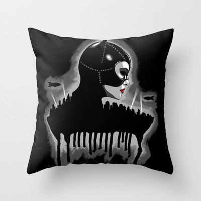 The Cat Throw Pillow by Remus Brailoiu - $20.00