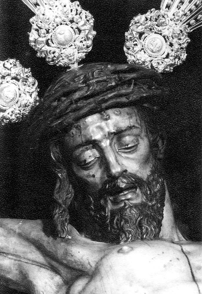 Magnífica Fotografía Del Santísimo Cristo Del Calvario Con Fecha De 1977 Fotografía Religiosa Semana Santa Sevilla Fotos Antiguas