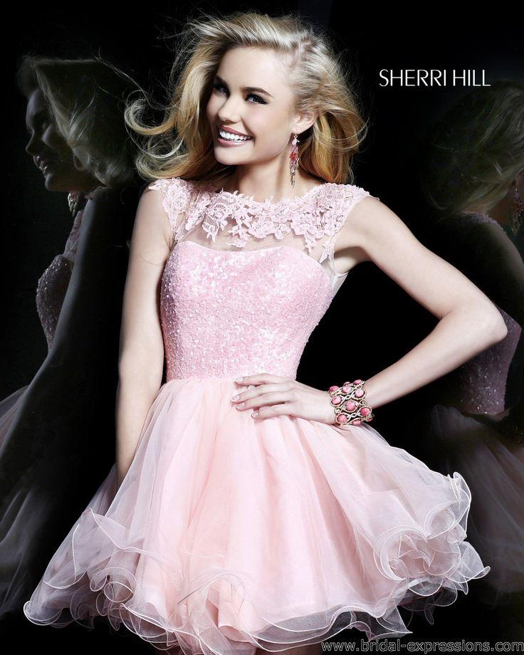 Sherri Hill Short Lace Homecoming Dress