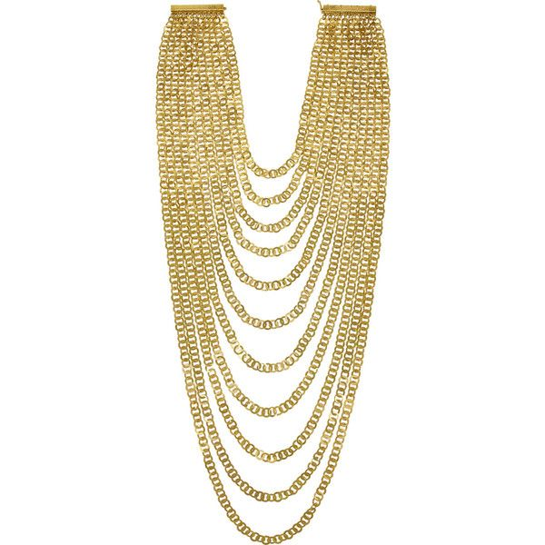 Rosantica Agrippina gold-dipped necklace ($205) ❤ liked on Polyvore featuring jewelry, necklaces, gold, magnet jewelry, rosantica, magnetic necklace, rosantica jewelry and magnetic jewelry