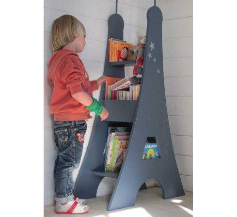 Tour Eiffel, bibliothèque éco design en bois pour enfant, mobilier écologique made in France, Côté Guinguette. http://www.greeen-store.com/fr/meubles-enfants/6304-bibliotheque-tour-eiffel.html