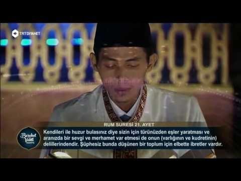 Video video qoriah terbaik dunia INILAH SUARA ZAINAL ABIDIN , QORI TERBAIK DUNIA 2016 DI TURKI , ASAL INDONESIA Qari asal Indonesia, Zainal Abidin menjadi juara pertama tilawah terbaik dalam ajang Musabaqah ke-IV Internasional Holy Quran