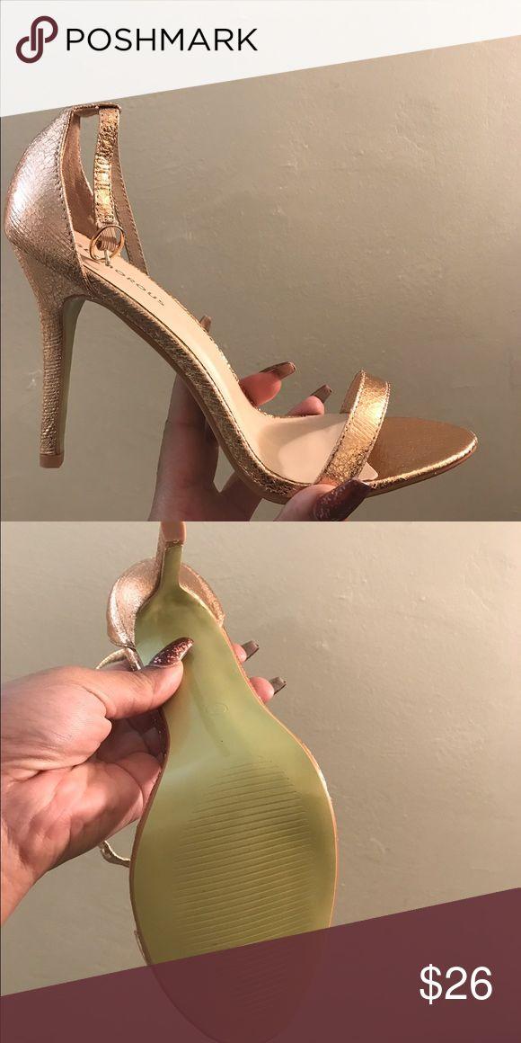 Glamorous rose gold high heel sandals Rose gold high heel sandals size 9 glamorous  Shoes Sandals