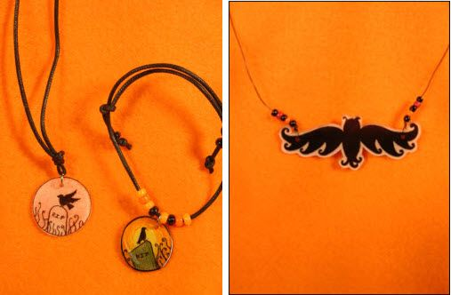 Spooky jewelry Use your design memory craft pitt artist pens on shrink plastic to make spooky Halloween jewelry! Attach to wire, cord add beads and your spooky style! Colleen McGinty Colleen has a rich, eclectic style that she has honed during her 12 years she has worked in-house with us...