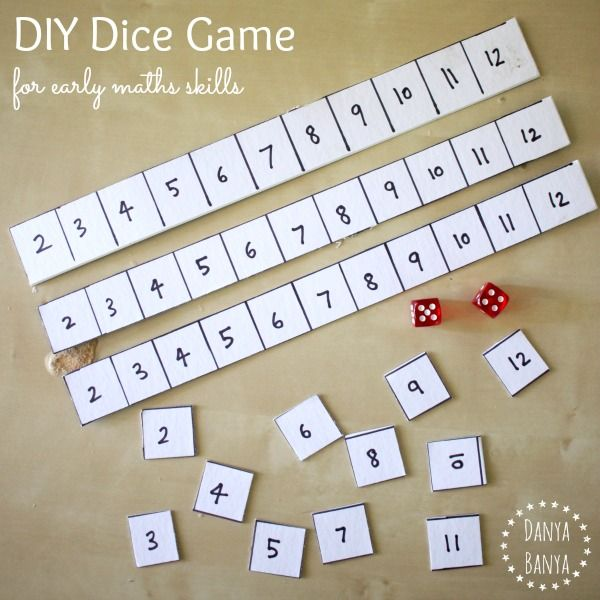 How to make a DIY Dice Game for kids, for a playful way to practise early math skills