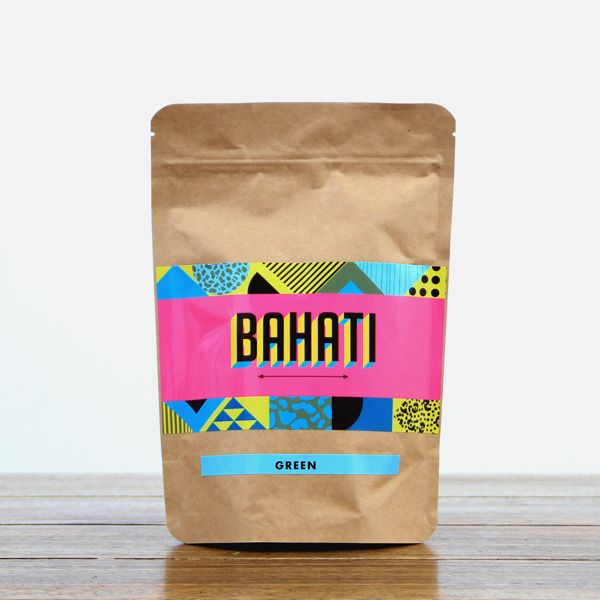 Love the contrast of colour with brown paper bag - BAHATI Coffee, Tea & Snacks: Product Photography