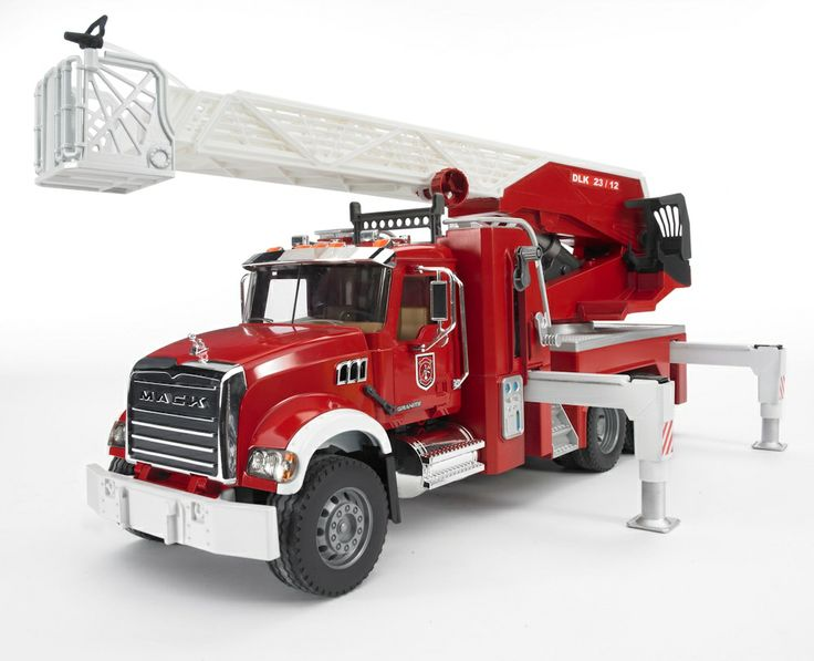 1/16th Mack Granite Fire Engine w/ Extendable Ladder Toy Toys