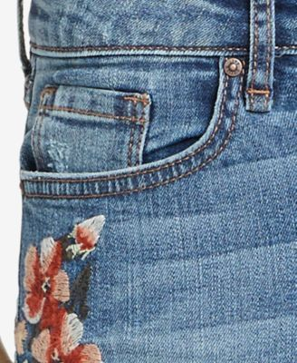 William Rast Embroidered Perfect Skinny Jeans - Blue 30