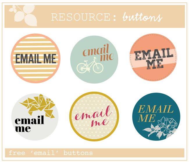 "cute free ""email me"" buttons for blogs"