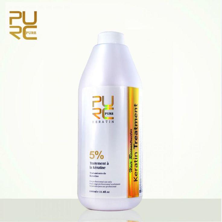 PURE Brazilian Keratin Hair Treatment Straightening Styling Formalin 5% 1000ml  #PUREBrazilianChina
