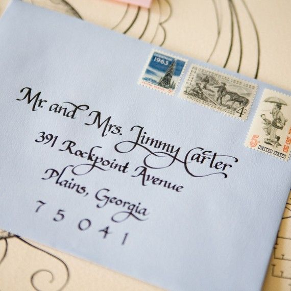 wedding calligraphy ideas - address your envelopes (by wet ink calligraphy)