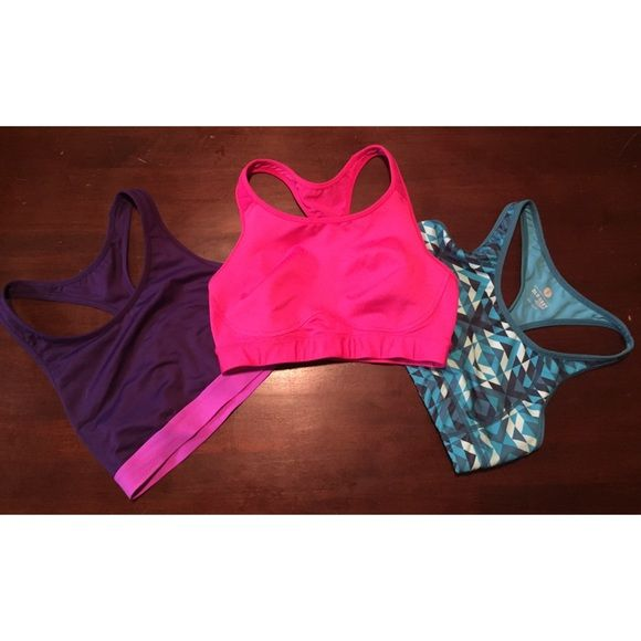 3 Old Navy Sports Bras bundle NWOT Have never been worn!!! They ended up being a little too small for me since I have a wider back (I weight lift a lot). Price is for all three. If buying separate they are $10. Old Navy Intimates & Sleepwear Bras